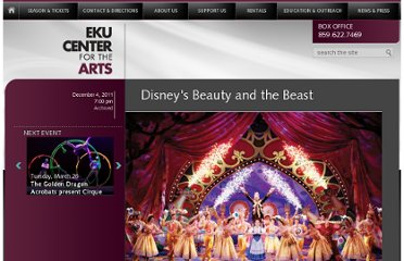 http://ekucenter.com/2011-12-season/243-disneyrsquos-beauty-and-the-beast-
