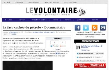 http://www.levolontaire.fr/la-face-cachee-du-petrole-documentaire