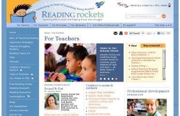http://www.readingrockets.org/audience/teachers/