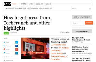 http://e27.sg/2010/09/23/how-to-get-press-from-techcrunch-and-other-highlights/