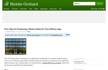 http://mobileorchard.com/five-tips-for-producing-a-demo-video-for-your-iphone-app/