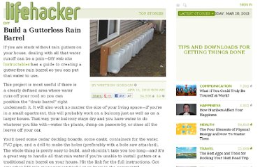 http://lifehacker.com/5514467/build-a-gutterless-rain-barrel