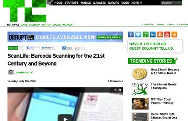 http://techcrunch.com/2008/07/08/scanlife-barcode-scanning-for-the-21st-century-and-beyond/