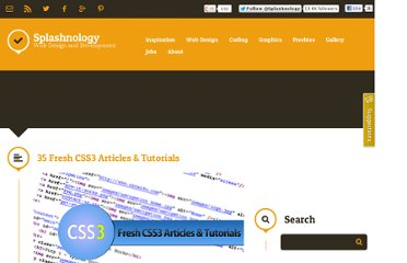 http://www.splashnology.com/article/35-fresh-css3-articles-tutorials/416/