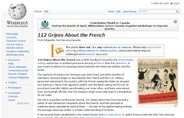 http://en.wikipedia.org/wiki/112_Gripes_About_the_French