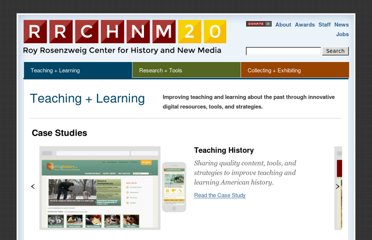 http://chnm.gmu.edu/teaching-and-learning/