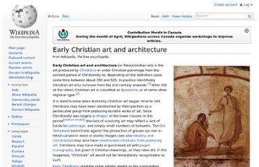 http://en.wikipedia.org/wiki/Early_Christian_art_and_architecture