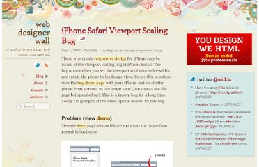 http://webdesignerwall.com/tutorials/iphone-safari-viewport-scaling-bug