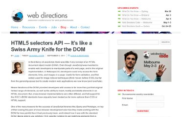 http://www.webdirections.org/blog/html5-selectors-api-its-like-a-swiss-army-knife-for-the-dom/