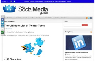 http://thesocialmediaguide.com/social_media/the-ultimate-list-of-twitter-tools