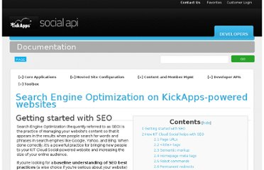 http://www.kickapps.com/documentation/index.php/Search_Engine_Optimization_on_KickApps-powered_websites