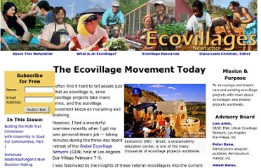 http://www.ecovillagenews.org/wiki/index.php/The_Ecovillage_Movement_Today