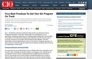 http://www.cio.com/article/612913/Four_Best_Practices_To_Get_Your_EA_Program_On_Track