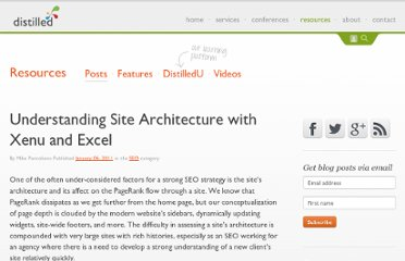 http://www.distilled.net/blog/seo/understanding-site-architecture-with-xenu-and-excel/