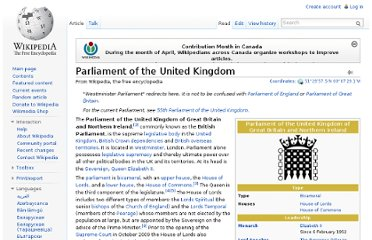 http://en.wikipedia.org/wiki/Parliament_of_the_United_Kingdom