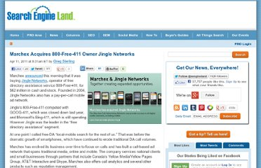 http://searchengineland.com/marchex-acquires-800-free-411-owner-jingle-networks-72438