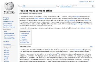 http://en.wikipedia.org/wiki/Project_management_office