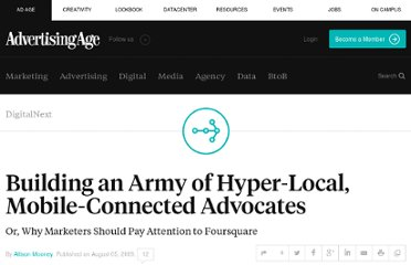 http://adage.com/article/digitalnext/mobile-marketing-advertising-foursquare-s-local-play/138305/