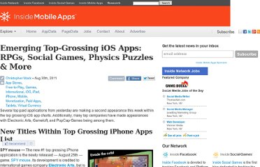 http://www.insidemobileapps.com/2011/08/30/emerging-top-grossing-ios-apps-rpgs-social-games-physics-puzzles-more/