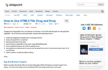 http://www.sitepoint.com/html5-file-drag-and-drop/