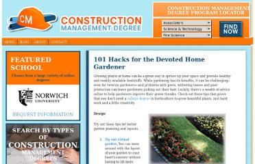 http://constructionmanagementdegree.org/blog/2010/101-hacks-for-the-devoted-home-gardener/