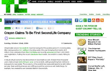 http://techcrunch.com/2006/10/22/crayon-claims-to-be-first-secondlife-company/