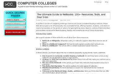 http://www.computer-colleges.com/blog/2009/the-ultimate-guide-to-netbooks-100-resources-tools-and-deal-sites/
