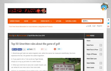 http://www.weirdfacts.com/jokes/45-golf-jokes/3117-unwritten-rules-about-the-game-of-golf.html
