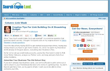 http://searchengineland.com/creative-tips-for-link-building-on-a-shoestring-budget-83144