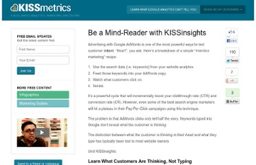 http://blog.kissmetrics.com/be-a-mind-reader/