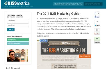 http://blog.kissmetrics.com/2011-b2b-marketing-guide/