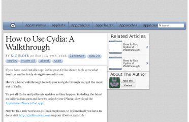 http://appadvice.com/appnn/2008/07/how-to-use-cydia-a-walkthrough