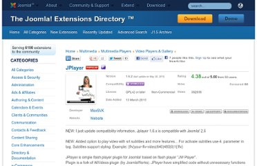 http://extensions.joomla.org/extensions/multimedia/multimedia-players/video-players-a-gallery/11572