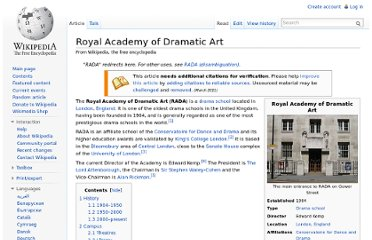 http://en.wikipedia.org/wiki/Royal_Academy_of_Dramatic_Art