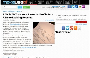 http://www.makeuseof.com/tag/2-tools-turn-linkedin-profile-neatlooking-resume/