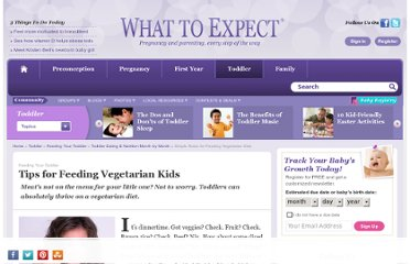 http://www.whattoexpect.com/toddler-nutrition/vegetarian-kids.aspx