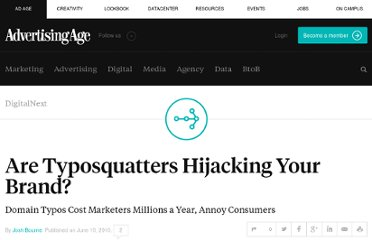 http://adage.com/article/digitalnext/typosquatters-hijacking-brand/144360/