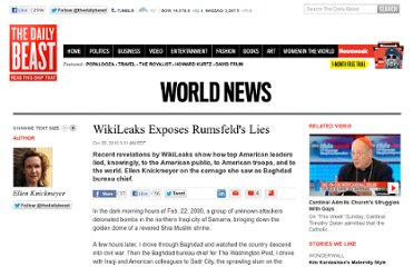 http://www.thedailybeast.com/articles/2010/10/25/wikileaks-shows-rumsfeld-and-casey-lied-about-the-iraq-war.html