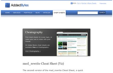 http://www.addedbytes.com/cheat-sheets/mod_rewrite-cheat-sheet/