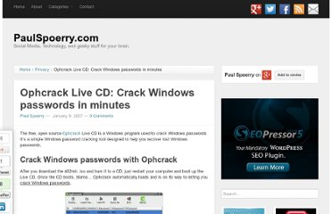 http://www.paulspoerry.com/2007/ophcrack-live-cd-crack-windows-passwords-in-minutes/
