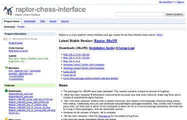 http://code.google.com/p/raptor-chess-interface/