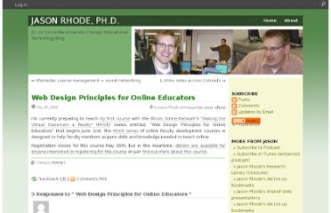 http://jasonrhode.edublogs.org/2008/05/25/web-design-principles-for-online-educators/