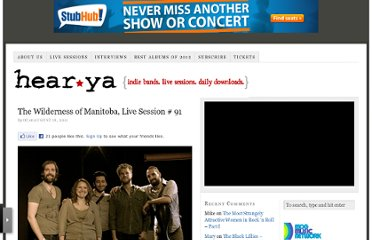 http://www.hearya.com/2011/08/18/the-wilderness-of-manitoba-live-session-91/