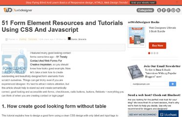 http://www.1stwebdesigner.com/css/51-form-element-resources-and-tutorials-using-css-and-javascript/