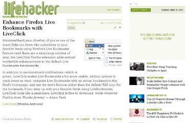 http://lifehacker.com/257485/enhance-firefox-live-bookmarks-with-liveclick