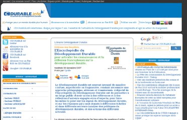 http://cdurable.info/L-Encyclopedie-du-Developpement-Durable,733.html