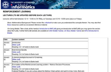 http://www.inf.ed.ac.uk/teaching/courses/rl/lecturelist.html