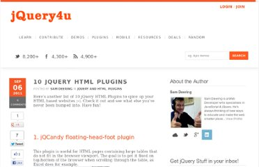 http://www.jquery4u.com/plugins/10-jquery-another-html-plugins/
