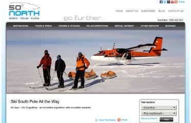 http://www.fiftydegreesnorth.com/tours/Ski_South_Pole_All_the_Way