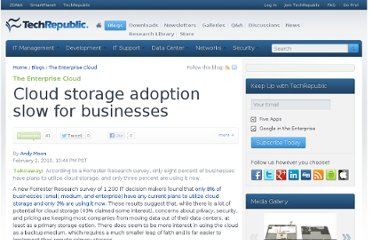 http://www.techrepublic.com/blog/datacenter/cloud-storage-adoption-slow-for-businesses/2142